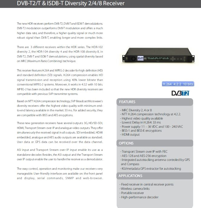 Support Brochure Broadcast Products